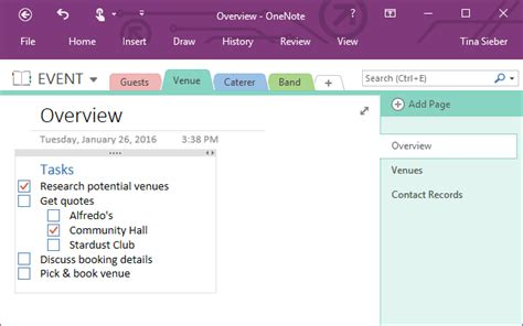 one organization how you can use microsoft onenote for project management