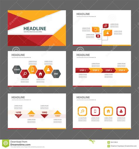 red and orange multipurpose brochure flyer leaflet website