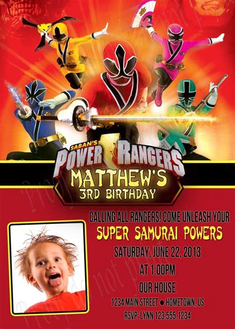 Printable Birthday Invitations Power Rangers | personalized printable invitations cmartistry power