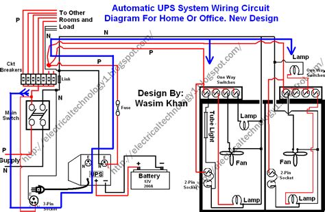 electrical technology automatic ups system wiring wiring