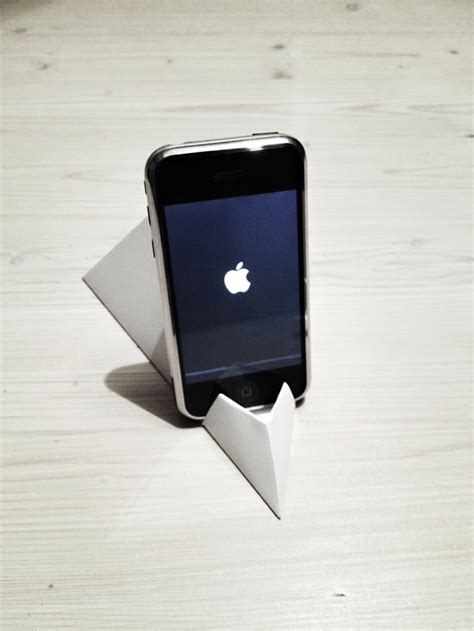 Origami Phone Holder - how to make origami paper iphone facetime stand