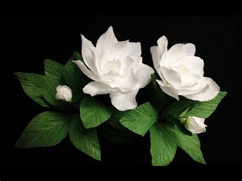 gardenia paper flower tutorial abc tv how to make gardenia paper flower from crepe