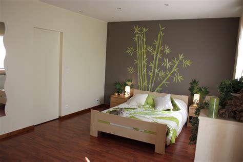 d馗o chambre adulte peinture chambre verte et beige
