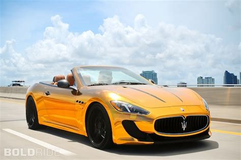 maserati gold chrome maserati grancabrio gets the gold treatment by velos