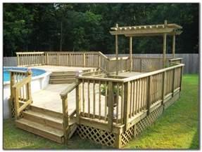 above ground swimming pool deck designs decks home