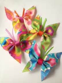 hair pin butterflies made out of ribbon tak箟 ve toka