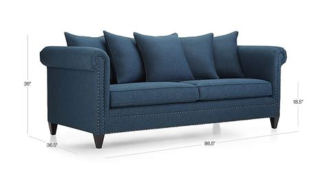 durham navy blue couch with nailheads crate and barrel durham navy blue couch with nailheads crate and barrel