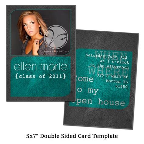 5x7 Double Sided Card Template Gray Digital File Sided Postcard Template Photoshop