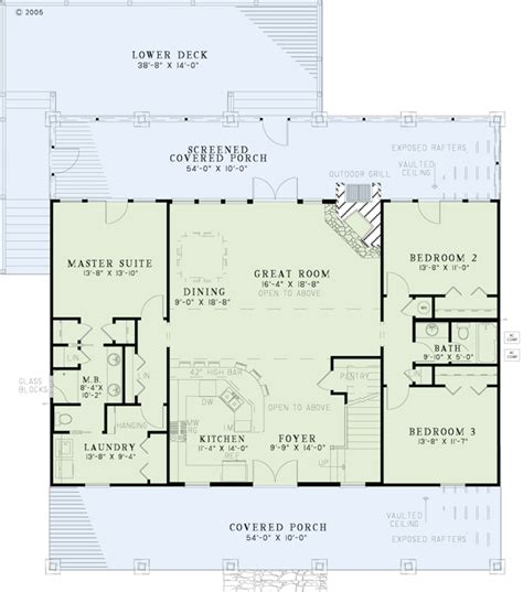 Country Style Open Floor House Plans | collections of country style open floor plans free home