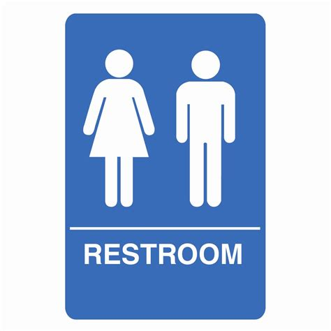 bathroom signs images palmer fixture is1005 1 b ada compliant unisex restroom
