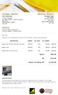 builders invoice template software for builders and construction businesses