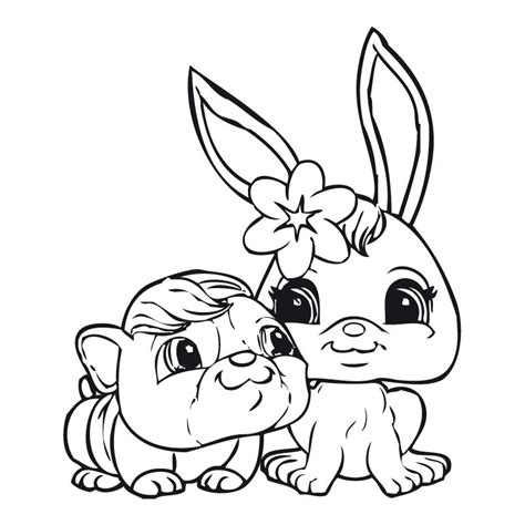 free coloring pages of littlest pet shop penny