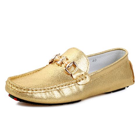 mens gold loafers gold spiked loafers mens best replica christian louboutin