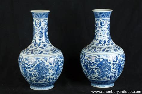 Blue And White Vases by As Show In Porcelain Porcelain