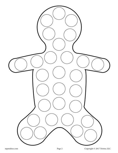 free printable gingerbread man dot to dot 10 free christmas do a dot printables