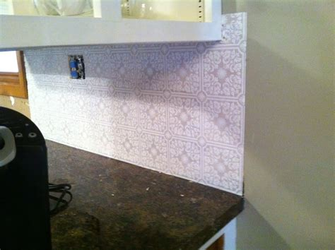 diy why spend more paintable wallpaper for a backsplash