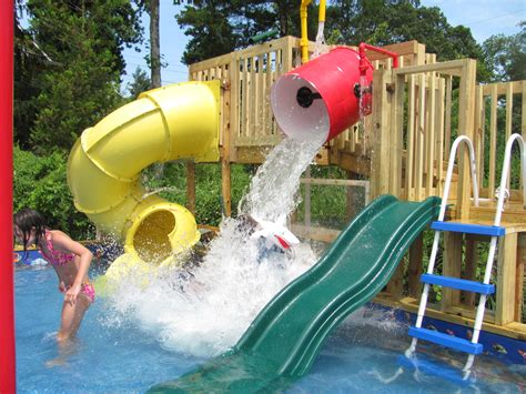 backyard waterslides 1000 ideas about above ground pool slide on pinterest