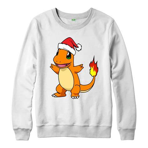 Jaket Sweater Hoodie Zipper Go Team Instinct 3 King C charmander santa hat spoof jumper spoof