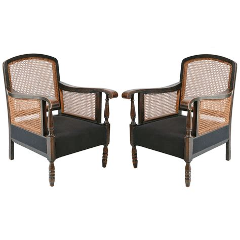 cane armchairs italian cane and hemp linen armchairs at 1stdibs