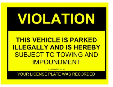 Download Parking Ticket Template Free Free Turbabitdetective No Parking Template Word