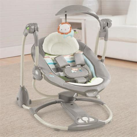 ingenuity portable baby swing swings ingenuity convertme swing 2 seat portable baby
