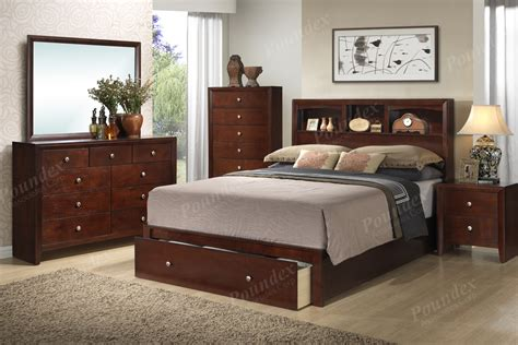 poundex bed nightstand night stand bedroom furniture showroom