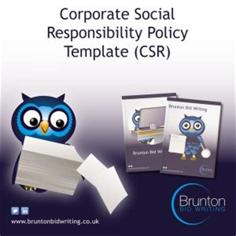 corporate social responsibility policy template csr policy brunton bid writing