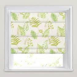 Green amp white fern amp fronds patterned roman blinds