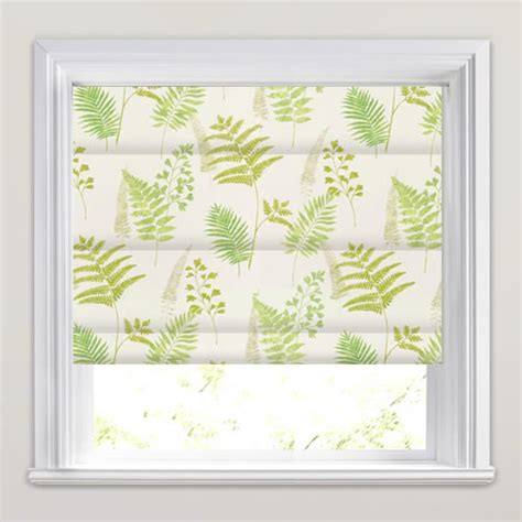 Bedroom Sizes Uk by Green Amp White Fern Amp Fronds Patterned Roman Blinds