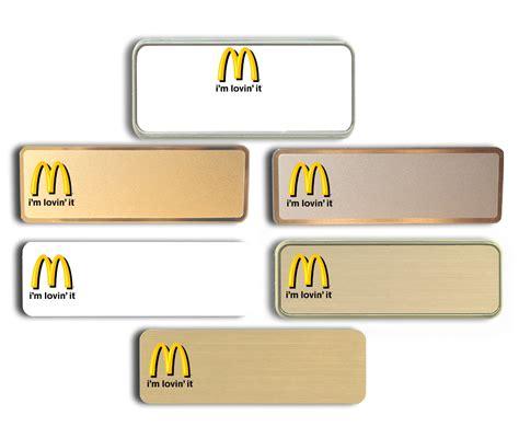 name tags mcdonald s name tags badges