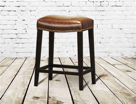 How To Make Saddle Bar Stools by Saddle Leather Bar Stool Seating