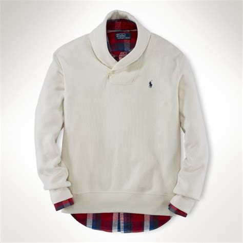 Polo Collar Sweater polo ralph cotton shawl collar sweater in