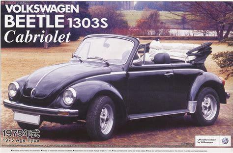 Volkswagen Beetle 1303s Cabriolet75 Aoshima volkswagen beetle 1303s cabriolet 75 model car package1