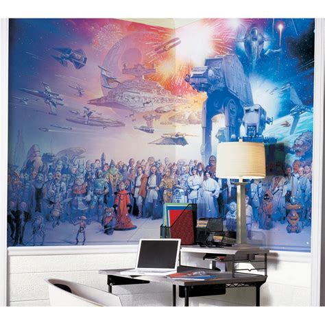 star wars decor star wars saga wall mural wallpaper accent decor