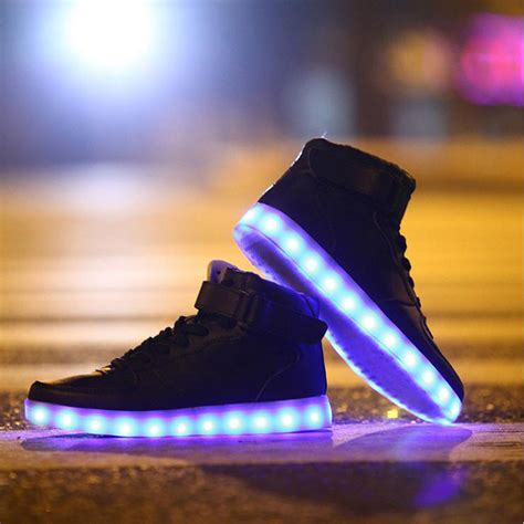lighting sneakers new men s light up led sneakers shop twackky