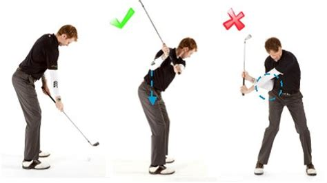golf swing left elbow golf downswing drill 3 free online golf tips