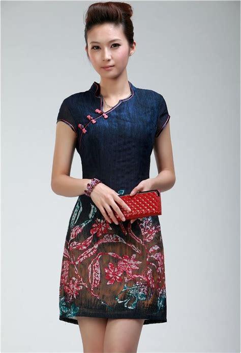 Baju Terusan Fashion Wanita Cheongsam Imlek Shanghai Qipao Gbr Bunga a modern take on the traditional cheongsam dress this is
