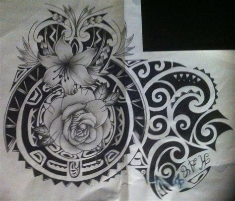 polynesian flower tattoo tribal ink on flower designs maori and