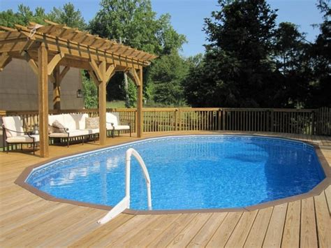 cool backyards with pools cool above ground pools with decks modern backyard