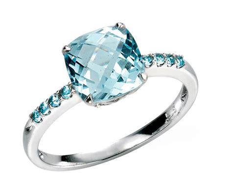 Ring Blue Topaz Sky rings engagement cornish