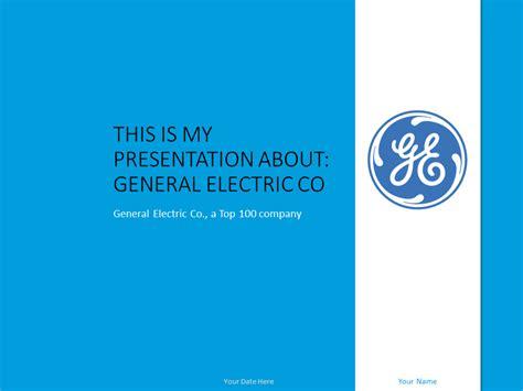 general electric powerpoint template presentationgocom