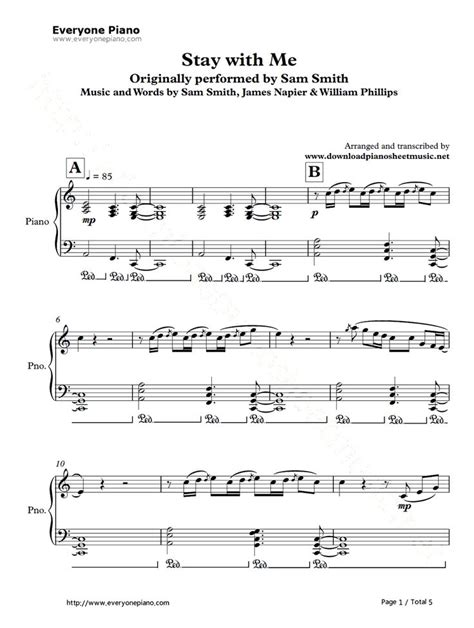 tutorial keyboard stay with me stay with me sam smith piano sheet music easy sam smith