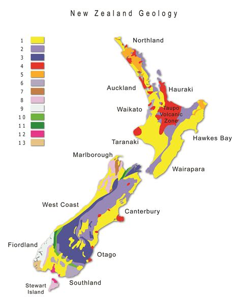 map new zealand geography geological map of new zealand