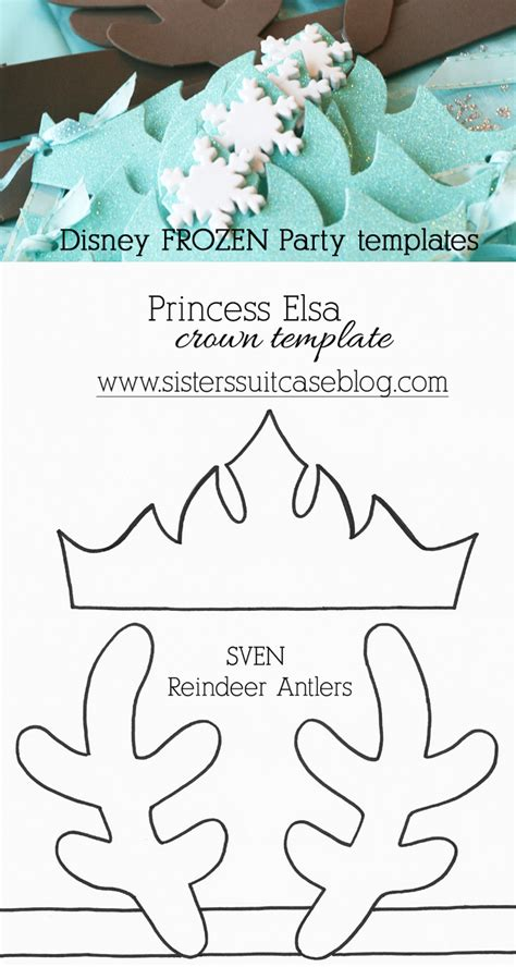printable frozen crown template a frozen birthday party modern latina mommy