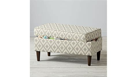ikat storage bench upholstered storage bench ikat fret the land of nod