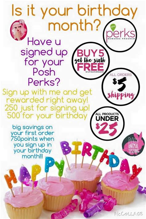 Get Posh by Get 500 Points During The Month Of Your Birthday That S