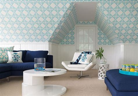 navy blue sectional  turquoise geometric pillows