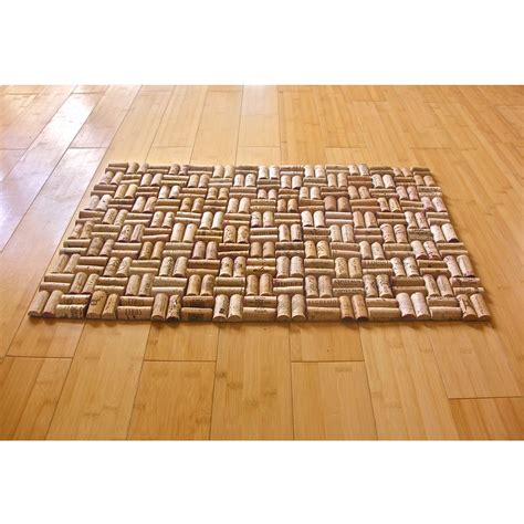 bathroom cork mat upcycled wine cork bath mat with weave pattern