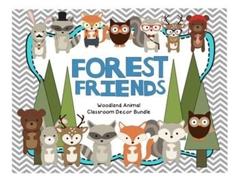 theme line forest friend editable woodland forest animal theme classroom decor
