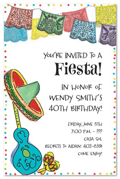 Mexican Themed Baby Shower Graduation Party Invitations Class Of 2013 Invitations Mexican Mexican Invitation Template